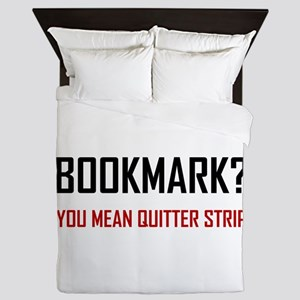 Bookmark Quitter Strip Queen Duvet