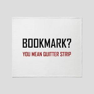 Bookmark Quitter Strip Throw Blanket