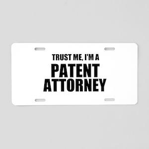 Trust Me, I'm A Patent Attorney Aluminum License P