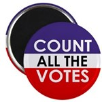 Count All The Votes Magnet
