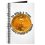 Gold Liberty Black Motto Journal
