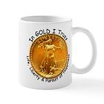 Gold Liberty Black Motto Mug