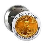 Gold Liberty Black Motto Button