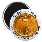 Gold Liberty Black Motto Magnet