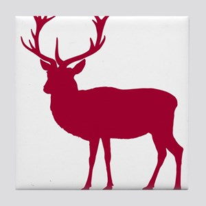 Red Deer Stag Party Tile Coaster