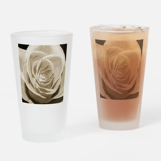 Sepia Rose Drinking Glass