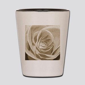 Sepia Rose Shot Glass