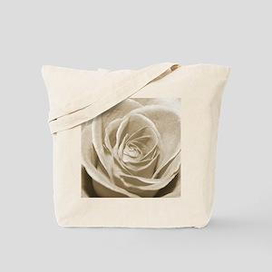 Sepia Rose Tote Bag
