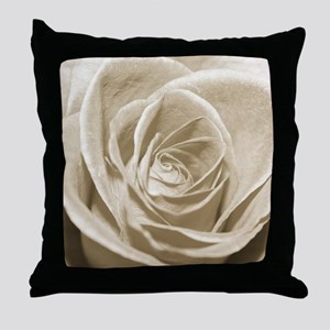 Sepia Rose Throw Pillow