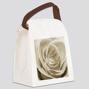 Sepia Rose Canvas Lunch Bag