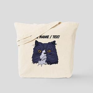 Custom Cat Face Tote Bag