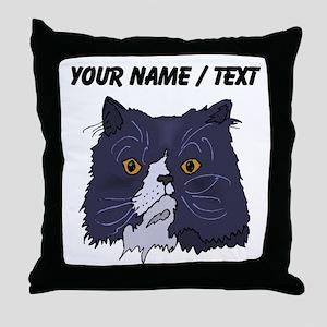 Custom Cat Face Throw Pillow