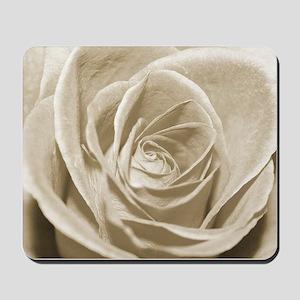 Sepia Rose Mousepad