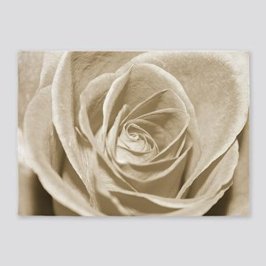 Sepia Rose 5'x7'Area Rug