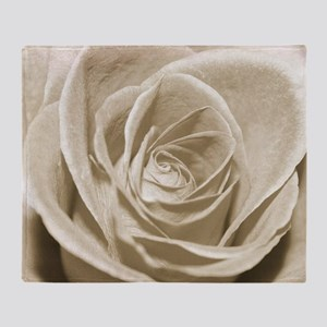 Sepia Rose Throw Blanket