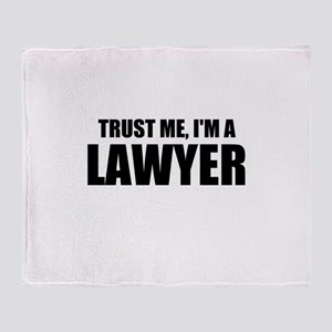 Trust Me, I'm A Lawyer Throw Blanket