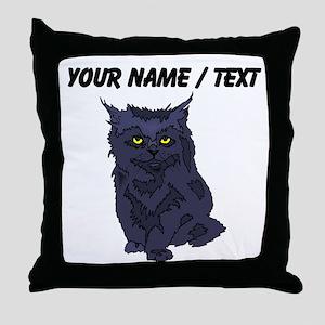 Custom Black Cat Throw Pillow