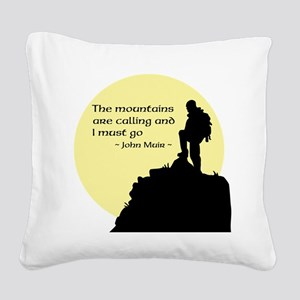 Mountains Calling Square Canvas Pillow