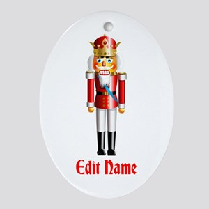 Customizable Nutcracker Ornament (Oval)