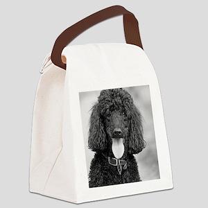 Black Poodle Canvas Lunch Bag