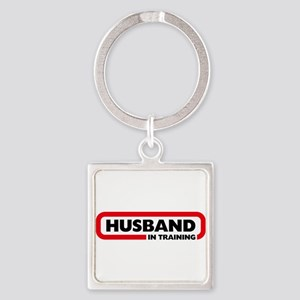 Husband in Training Square Keychain