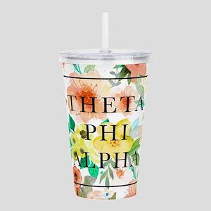 Theta Phi Alpha Floral Acrylic Double-wall Tumbler