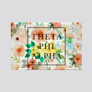 Theta Phi Alpha Floral FB Rectangle Magnet
