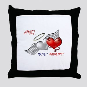 Angel Maybe Maybe Not Throw Pillow
