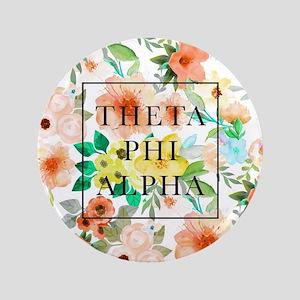 """Theta Phi Alpha Floral FB 3.5"""" Button"""