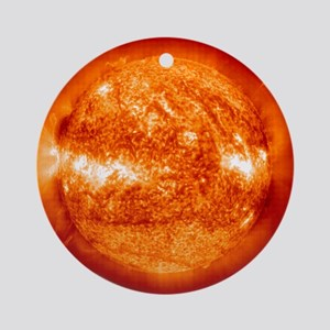 Sol, our sun Christmas Tree Ornament (Round)