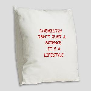 CHEMISTRY Burlap Throw Pillow