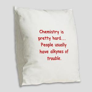 XHEMISTRY3 Burlap Throw Pillow