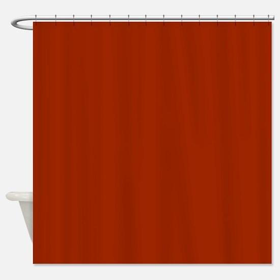 Solid Burnt Orange Shower Curtain