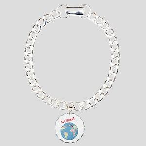 00-but-slovakia-globe.pn Charm Bracelet, One Charm