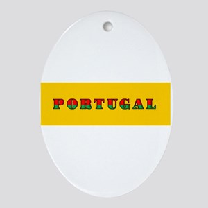 Portuguese Flag of Portugal Oval Ornament