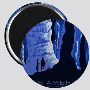 Caving Travel Cavern Vintage Travel Poster Magnets