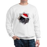 Ebony Chinchilla Christmas Sweatshirt