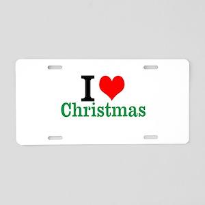 I love Christmas Aluminum License Plate
