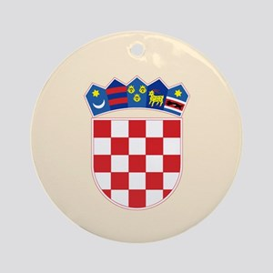 00-but-crest Ornament (Round)
