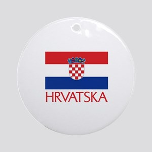 00-but-croatiaflagH Ornament (Round)