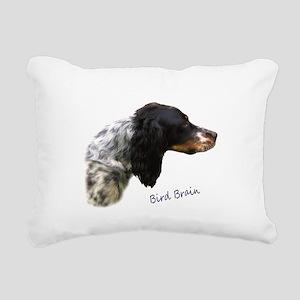 Bird Brain Rectangular Canvas Pillow
