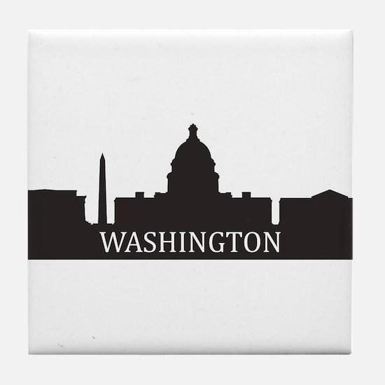skyline washington Tile Coaster