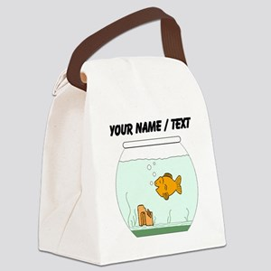 Custom Goldfish Bowl Canvas Lunch Bag