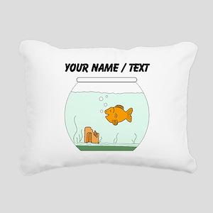 Custom Goldfish Bowl Rectangular Canvas Pillow