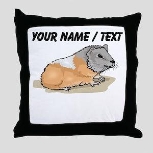 Custom Hamster Throw Pillow