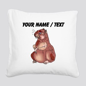 Custom Hamster Square Canvas Pillow