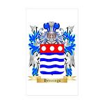 Hennings Sticker (Rectangle 50 pk)