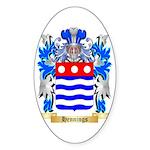 Hennings Sticker (Oval 50 pk)