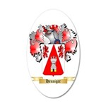 Henniger 20x12 Oval Wall Decal