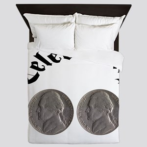 celebratingdoublenickle Queen Duvet